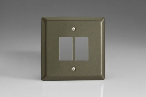 Varilight XPPGY2 Classic Graphite 21 2 Gang Grid Plate (Single Plate)